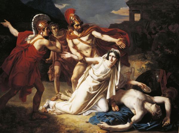 Antigone buries Polyneices